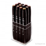 TOUCH TWIN Marker Set 12er - Wood Colors