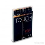 TOUCH TWIN Marker Set 6er - Wood Colors
