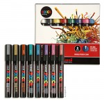 Posca Marker PC-5M Marker-Set medium 1,8-2,5 mm, 8 Metallicfarben