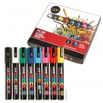 Posca Marker PC-5M Marker-Set medium 1,8-2,5 mm, 8 Standardfarben