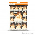 Vintage-Glanzbilder - Nostalgischer Engel, 16,5x23,5 cm, 3 Blatt sortiert