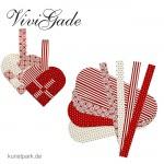 Vivi Gade Copenhagen - Flechtherzen 8 Stück, sortiert