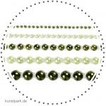 Vivi Gade Helsinki - 40 Halbperlen, selbstklebend, Perlmuttglanz grün