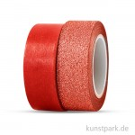 Vivi Gade Motiv-Klebeband Washitape 15 mm - Set mit 2x5 m Rot
