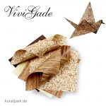 Vivi Gade Oslo Natur - Origamipapier doppelseitig 50 Stück, sortiert 10 x 10 cm