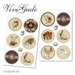 Vivi Gade Oslo - Sticker, Motiv Stempel, 4 Blatt je 6 Aufkleber, sortiert