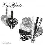 Vivi Gade Paris - Flechtherzen 8 Stück, sortiert