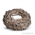 Weidenkranz weiß gewischt, Durchmesser 30 cm