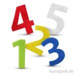 Zahlen aus Filz, selbstklebend, 120 Stück - farbig sortiert