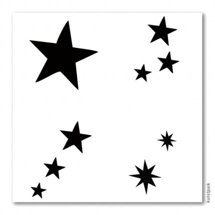 Bodypainting Schablonen Set Sterne