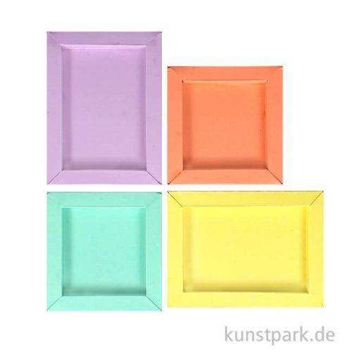 3D Bilderrahmen aus Pappe - Pastell, 8 Stück in 2 Größen, 4 Farben