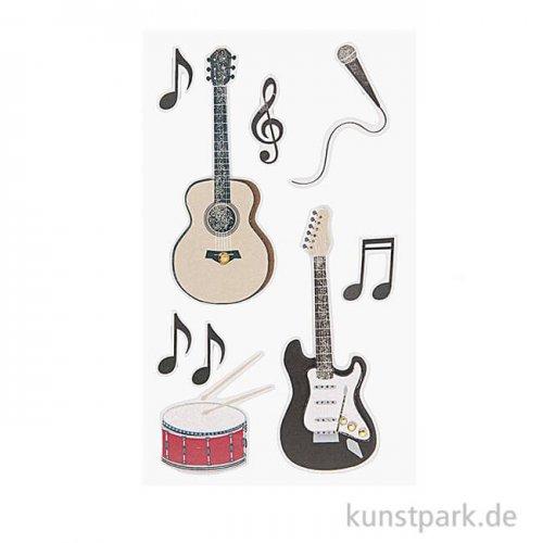 3D Sticker - Rockmusik