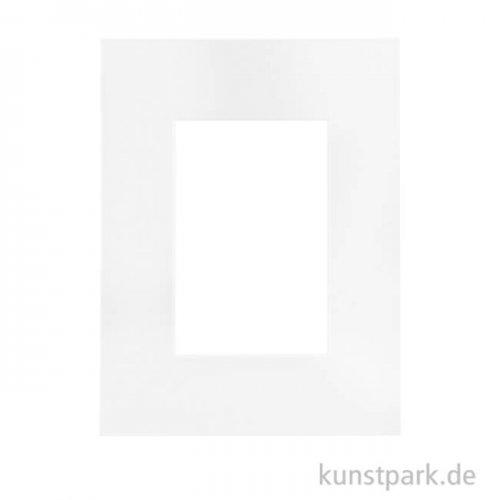 Fertigpassepartout  Weiß, Stück außen 30 x 40 cm - innen 20 x 30 cm