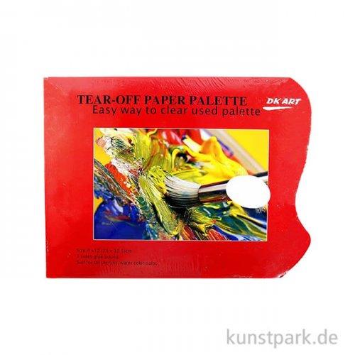 Abreißpalette - Basic, Eckig mit Griffloch, 40 Blatt, 30 cm x 23 cm