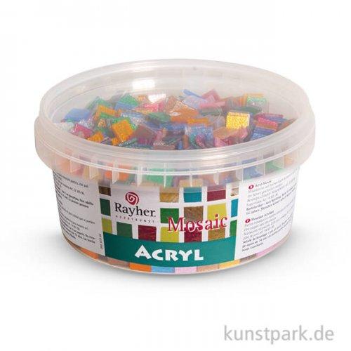 Acryl-Mosaiksteine - Glitter-Bunt, 1x1 cm, 300g