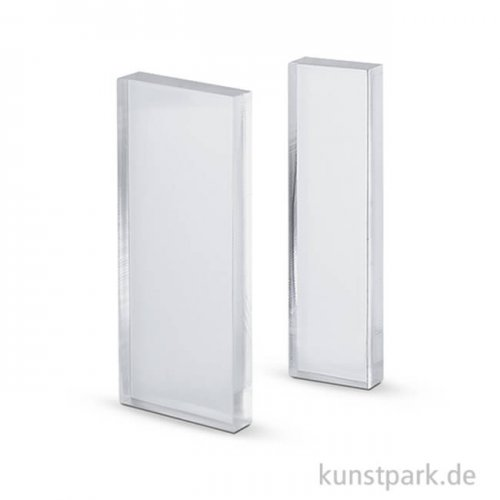 Acrylblock für Silikonstempel, 2 Stück sortiert