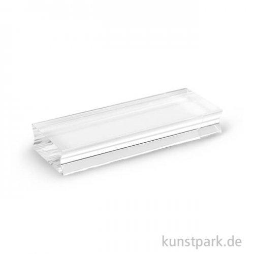 Acrylblock für Silikonstempel mit Griffmulde 38 x 100 x 15 mm