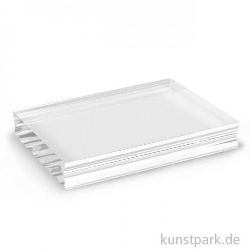 Acrylblock für Silikonstempel mit Griffmulde 76 x 100 x 15 mm