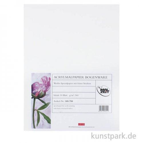 Acrylmalpapier 360 g, 10 Einzelbogen DIN A2