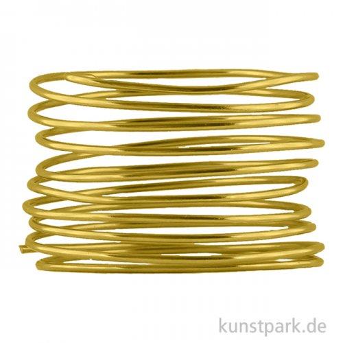 Aludraht zur Dekoration und Schmuckherstellung, 2m 1 mm | Gold