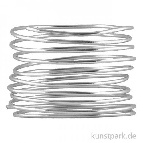 Aludraht zur Dekoration und Schmuckherstellung, 2m 2 mm | Silber