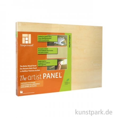 Ampersand Artist Panel - Basswood 22 mm 30 x 40 cm