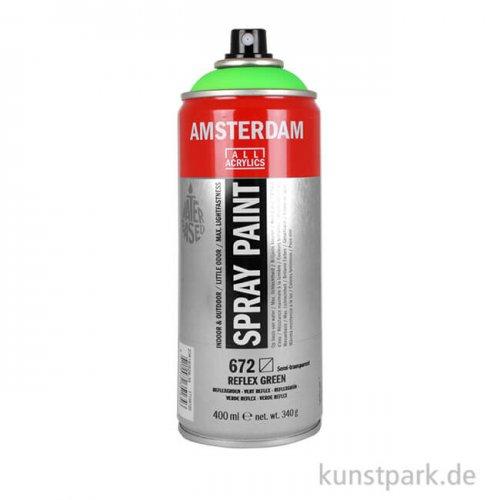 Talens AMSTERDAM Spray Neon 400 ml Einzelfarbe   672 Reflexgrün