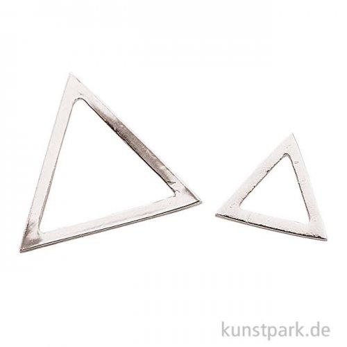 Anhänger Dreiecke - Silber, 2 Stück