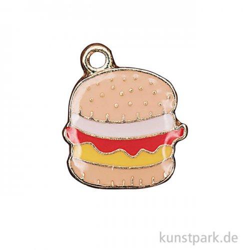 Anhänger Emaille - Hamburger