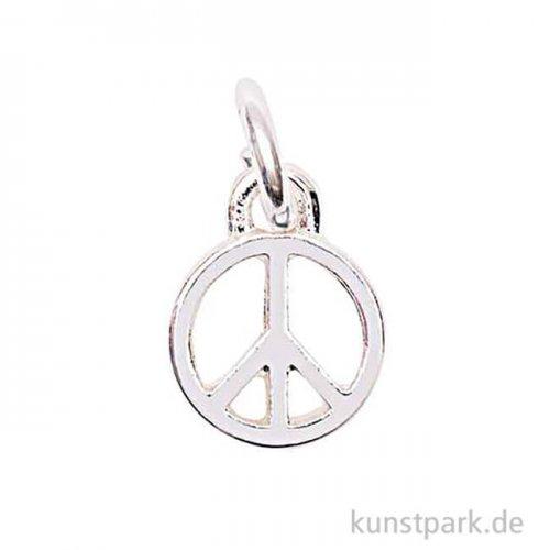 Anhänger für Schmuck - Peace, Silber