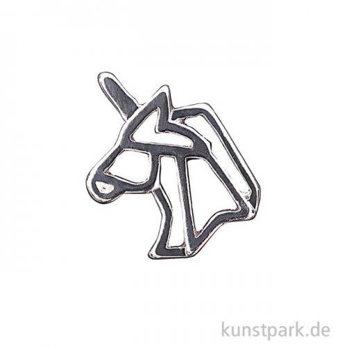 Anhänger Origami - Einhorn, Silber
