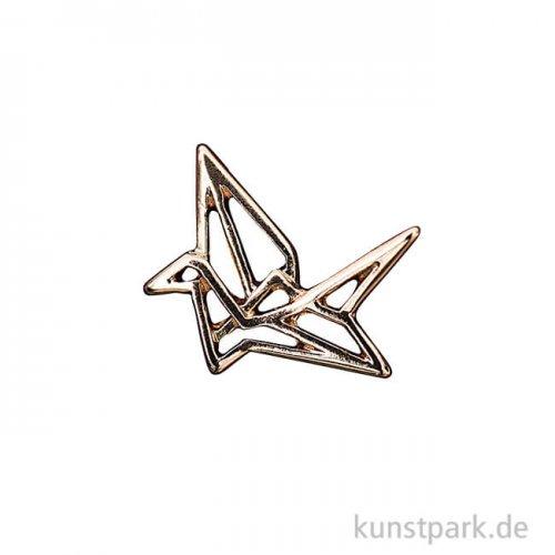 Anhänger Origami - Kranich, Gold