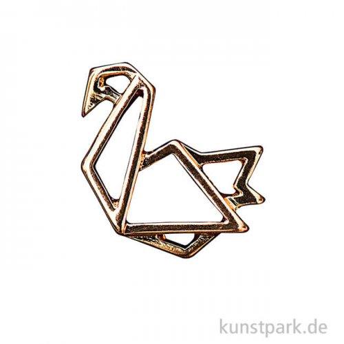 Anhänger Origami - Schwan, Gold