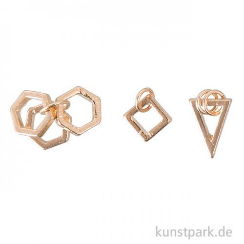 Anhänger Set - Geometrisch, Gold