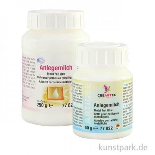 Anlegemilch für Schlagmetallfolien und Blattgold