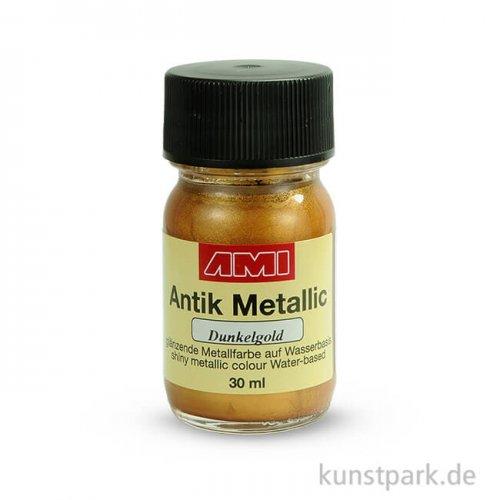 Antik Metallic Dunkelgold 30 ml