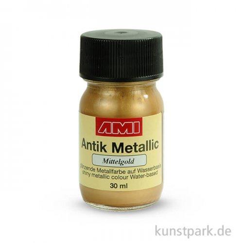 Antik Metallic Mittelgold 30 ml