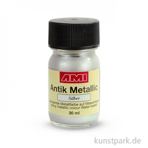 Antik Metallic Silber 30 ml