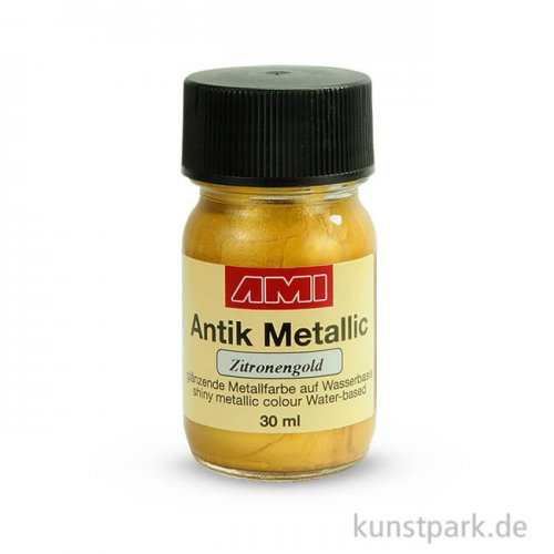 Antik Metallic Zitronengold 30 ml