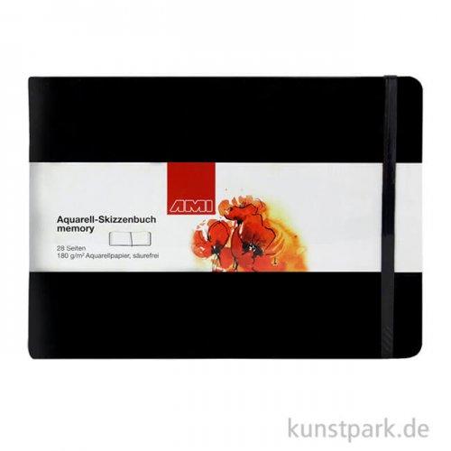 Aquarell-Skizzenbuch MEMORY 14 x 9 cm - 28 Blatt
