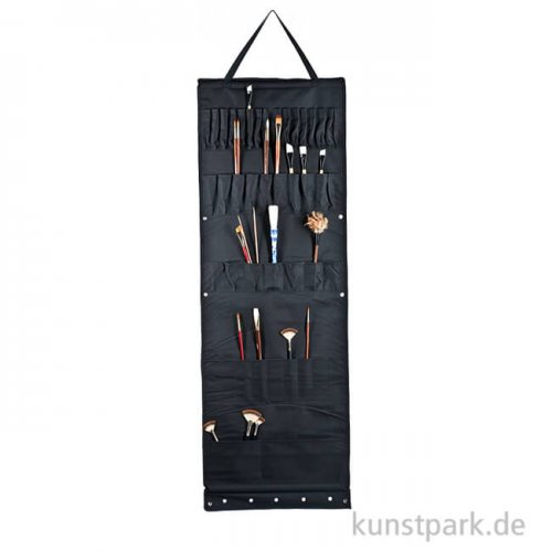 Atelier-Wandhänger mit 48 Taschen, Größe etwa 50 x 148 cm Nylon schwarz