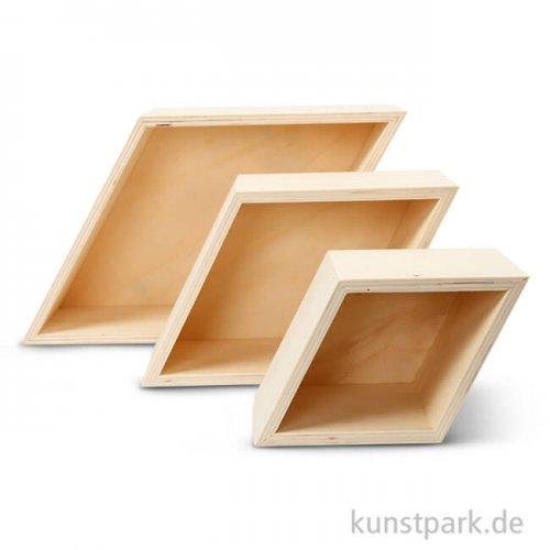 Aufbewahrungsboxen Sperrholz - 3 Rhombus