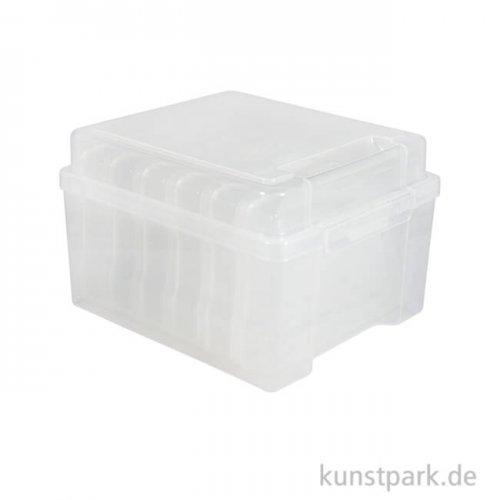 Aufbewahrungsbox mit 6 Innenboxen, 210 x 185 x 140 mm