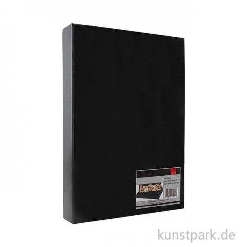 Aufbewahrungsbox schwarz glänzende Pappe 23,5 x 33 cm