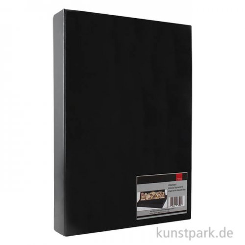Aufbewahrungsbox aus schwarzer glänzender Pappe