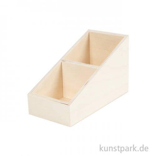 Aufbewahrungskiste aus Holz - Klein mit 2 Fächern