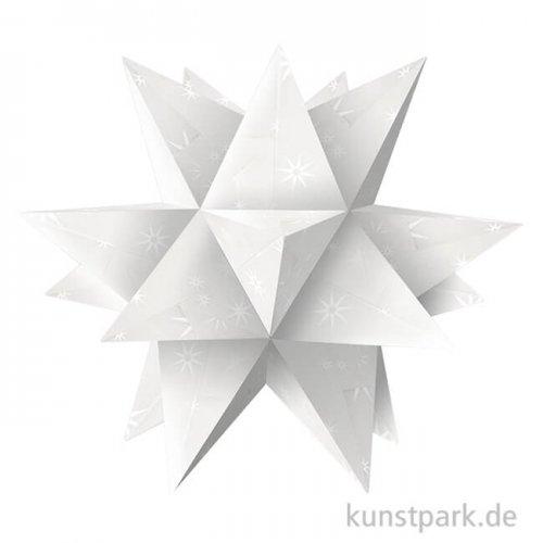 Aurelio-Stern Bastelset - White Line Sterne, 14,8x14,8 cm, 115g