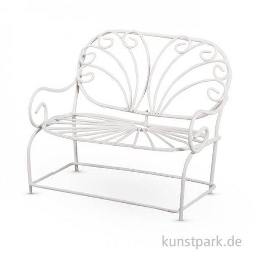 Miniatur Bank - Weiß, 11,5x6,5x9,5 cm, 1 Stück