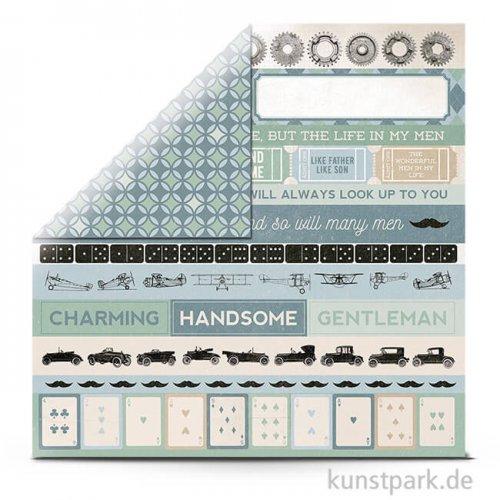 Barber Shoppe - Scrapbookingpapier 150 g 30,5 x 30,5 cm | Clippers