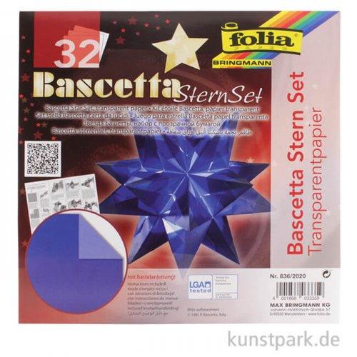 Bascetta-Stern Bastelset, 115g - blau 20x20 cm